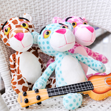 RYRY 24CM Cute Pink Leopard Green Brown Pink Panther Plush Stuffed Toys Baby Kids Doll Brinquedos 2017 new toys for children
