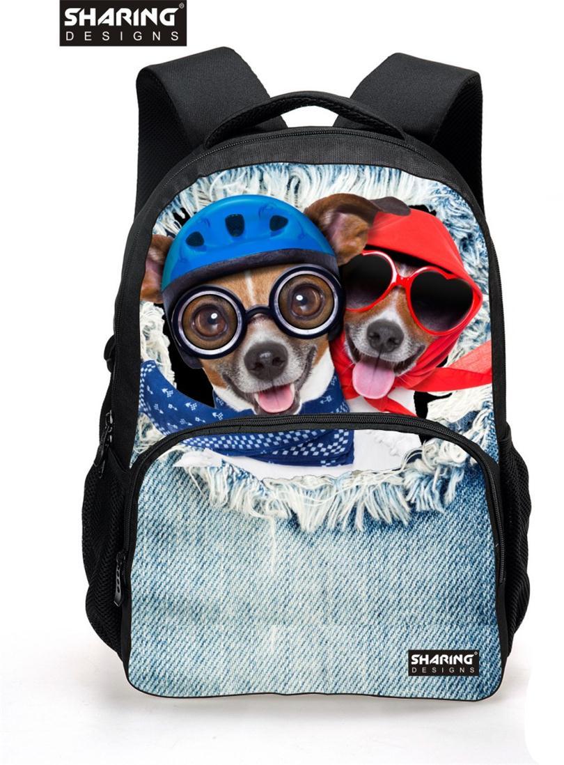 2016 New Animal Printing Backpacks for Teenager Girls Cute Pug Dog Head Women Backpacks Casual Travel Bolsas Mochilas Femininas<br><br>Aliexpress