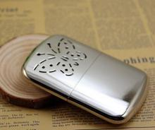 1pcs/lot Free shipping ! New Portable Handwarmer Platinum Pocket Handy Hand Warmer + Free Replacement Burner(China)