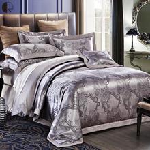 luxury satin jacquard bedding sets duvet cover bed linens set 100 cotton king queen size