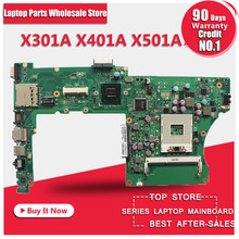 For Asus X501A X301A X401A laptop motherboard mainboard support B820 B960 CPU tested Ok(China)