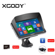 Xgody 740 7 Inch Gps For Car And Truck Navigator Bluetooh Rear Camera 8Gb TF Card Optional 128M+8GB FM Capacitive Navigation(China)
