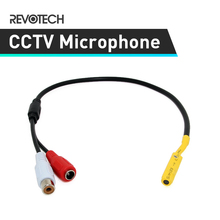 Adjustable High Quality Mini Audio CCTV Microphone Surveillance Wide Range Sound Pickup Audio Monitor for Security Camera