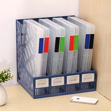 Portable Folder Plastic A4 File Storage Box Transparent Sorting File Box