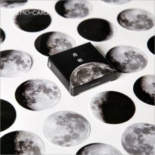 45pcs/pack Moon Phases series moon moon change monthly Stickers DIY Aesthetic Diary Stationery Stasticker post it sticky