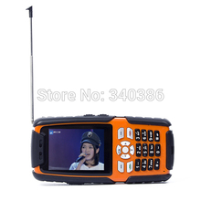 cheap ALPS L9 IP67 rugged waterproof shockproof cell phone analog TV 3800mah big battery 2.4 inch 1.3MP dual sim GSM A8 A9