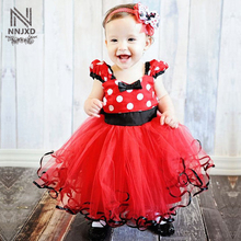 Pretty Baby Minnie Dress For Girls Little Girl Minnie Mouse Costume Kids Party Wear Dress For Girl Frocks Birthday Theme Outfits