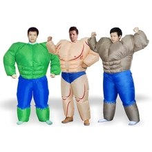 Muscle man inflatable suit halloween costume for adult s men halloween carnival party Christmas inflatable costumes for adult(China)