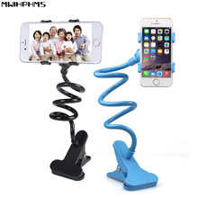 carstyling 360 degree rotation plastic Universal flexible holder Arm Lazy stent mobile phone holder Stand Bed Desk Table Bracket