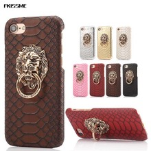 FKISSME Case For iphone 7 Plus Cover Sexy Snake Case For iPhone 6S Case For iphone 6 6S Plus 5S 3D Lion Head Stand Cover Fundas