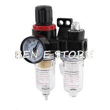 AFC2000 Air Filter Regulator Lubricator Combinated AFR-2000 + AL-2000 with Pressure Gauge