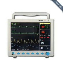 CMS8000 6-Parameter TEMP, Pulse Rate, Respiration, EG, SPO2, NIBP Digital Medical ICU Patient Vital Signs Monitor