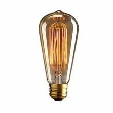 Lightinbox light bulb  old fashioned Edison Style E27 Screw  40W 220V - Squirrel Cage tungsten filament glass antique Lamp