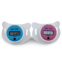 Baby Nipple Thermometer Health Monitors Termometro Testa Baby Pacifier LCD Digital Mouth Nipple Pacifier Chupeta(China)