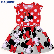 Sleeveless Children Dress Cartoon minnie mickey Cotton Kids Dresses disfraces carnaval For Girl Christmas New Year girls clothes