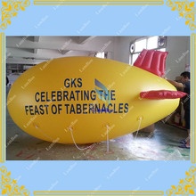 4m/13ft Adverizing Yellow Inflatable Airship Blimp Zeppelin with your LOGO for Different Events
