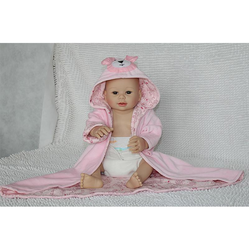 UCanaan New No Hair Fashion Full Silicone Reborn Baby Doll with Cute Pink clothes Not Soft Body 100% Safe Material Best Toys<br><br>Aliexpress