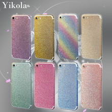 10pcs Bling Glitter Phone Protective Sticker For Apple iphone 7 Plus Bling 360 Degree Full Body Decal Skin Wrap Phone Case Women