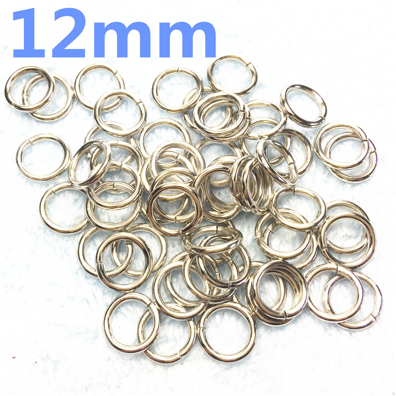 3-  12mm silver Metal O Rings O Ring Silver Tone Webbing Buckles Connect Strapping Belt Handbag Bags Clothes