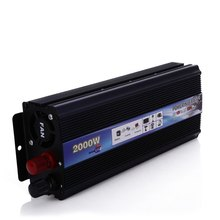 High Quality Car Vehicle 2000W Power Inverter Voltage DC 12V to AC 220V Power Car Converter Car Travel Inverter with USB Port(China)