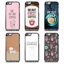 OK But First Coffee Cover Case for Samsung A3 A5 A7 2015 2016 2017 Sony Z1 Z2 Z3 Z5 Compact X XA XZ Performance(China)
