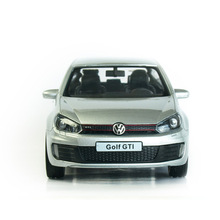 RMZ City Golf GTI 1:32 Toy Vehicles Alloy Pull Back Mini Car Replica Authorized By The Original Factory Model Toys Acousto-optic