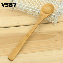Bamboo Spoon Japanese Style Long Handle Health Natural Wooden Crafts Tsp Tea Coffee Stirrer Kitchen Utensil Small Tools 1Pcs(China)