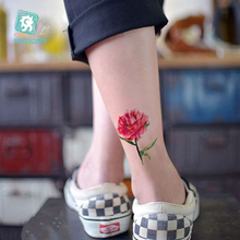 Latest 2017 Women Peony Little Flower Tattoo Beauty Tattoo Waterproof Fake Temporary Body Tattoo Sticker Maple leaf Dandelion