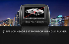 "One pair 9"" TFT LED Headrest Car DVD Player Monitor Player with IR FM USB SD Game Fit for Most Cars(China)"