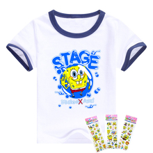 new T-shirt bob Sponge children boys clothing Short Sleeve movie TV cartoon pattern children clothes children t shirts