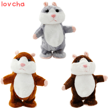 Lovcha newest 18CM Lovely Talking and walk Hamster Plush Toy Cute Speak Talking Sound Record Hamster Talking Toys for Children(China)