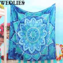 150x130cm Indian Mandala Tapestry Wall Hanging Bohemian Bedspread Dorm Cover Throw Blanket Home Room Decor Textiles Accessories