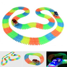 Enlighten Magic Tracks Bend Flex Glow in the Dark Assembly Toy 162/165/220/240pcs Race Track + 1pc LED Car