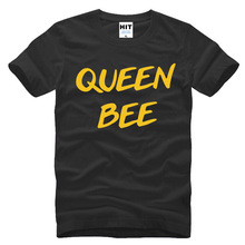 Queen Bee T Shirts Men/Women Letter Printed T-shirt Short Sleeve Cotton Casual Funny Tops Tees 3d t-shirt homme pattern t(China)
