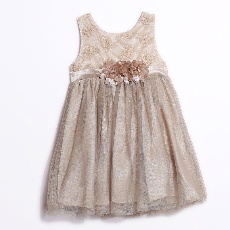 Baby Girl Vest Wedding Dress 2017 For Kids Clothes Cotton Mesh Princess Vestidos Flowers Party Pageant Communion Dress Ins <br>