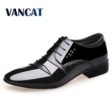 VANCAT Luxury brand Patent Leather Men Shoes Business Dress Shoes Black Brown Oxford Shoes Breathable Formal Wedding Footwear(China)