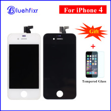 10 PCS For iPhone 4 LCD Display Touch Screen Digitizer Assembly Phone Replacement Parts Black White LCD For iPhone 4 Display