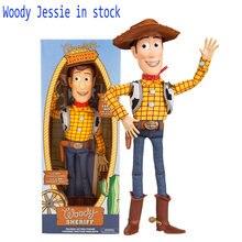 45 cm juguete historia 3 hablando cantando Woody Jessie Pvc figura de acción  de colección modelo de juguete muñeca niños electri. 7a1c2ffc57e