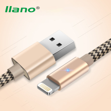Buy llano 1m Nylon 5V 2.4A iPhone 8Pin USB Cable Fast Charging Mobile Phone Charger Cable LED iPhone 7 6 6s plus 5s for $3.96 in AliExpress store