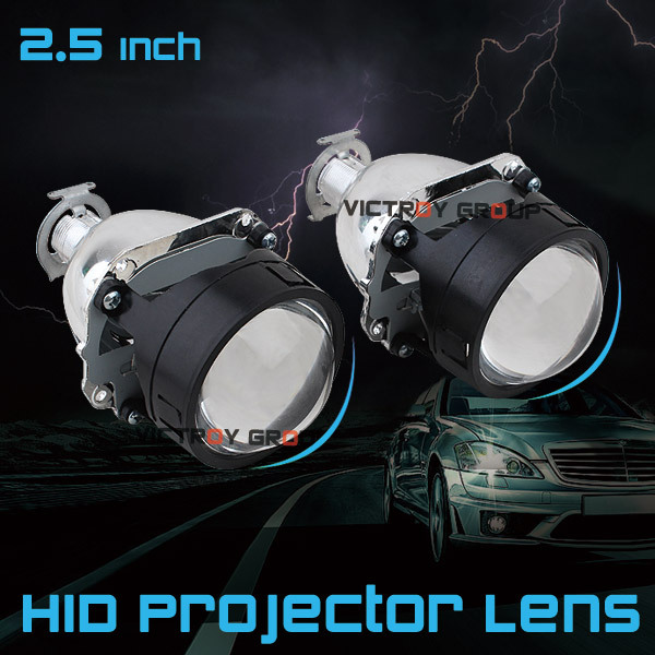 2.5 Inch Mini Bi-xenon HID Projector Lens For Car Motorcycle Tractor Headlight with Shround H7 H4 Hi/Lo Fog Light light source<br>