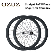 OZUZ Ship From Germany Straight Pull Whees 700C 23mm Width 38mm 50mm deep Clincher Carbon Wheels Racing Road Bike Wheelset