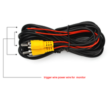 Video Cable 6M+ Power Cable For Rear View Reverse Camera car styling