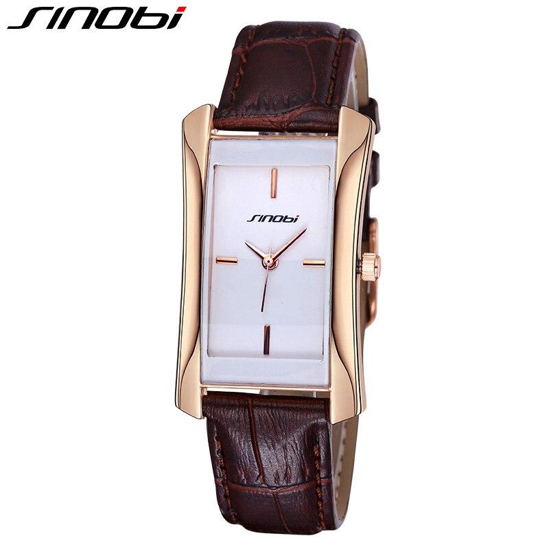 SINOBI 2017 New Square Women Watch Leather Waterproof Business Watch Mens fashion casual quartz watch relogio masculino 8179<br><br>Aliexpress