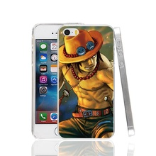 22854 One Piece Ace Fire Cover cell phone Case for iPhone 4 4S 5 5S SE 5C 6 6S 7 Plus