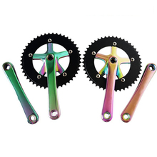 Bicycle Tooth Disk 46T Colorful Single Speed Tooth Plate Phantom Color Star Plating Crank Gear Plate