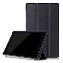 All-New Custer PU Leather Case Smart Cover for Amazon New Kindle Fire HD 8 2016 + 2 Pcs Screen Protector Film as Gift