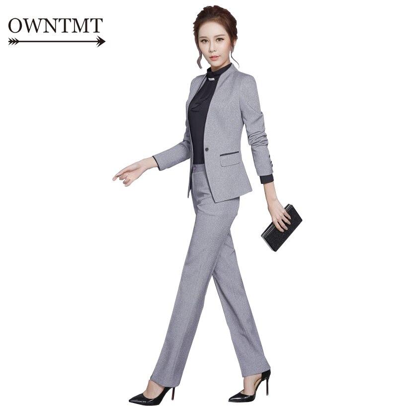 Women Pant Suit 2019 New Arrival Autumn Women Formal Work Office Long Sleeve Trouser Suits OL Slim One Button Business Suit 3XL Mercedes-Benz CLA-класс