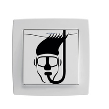 Snorkel Head Diving Decor Home Room Light Switch Stickers Wall Decals 5WS0199(China)
