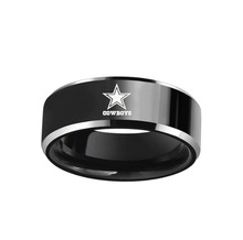 GREEN DALLAS COWBOYS FOOTBALL TEAM BLACK BLUE 316L STAINLESS STEEL MEN RING JEWELRY GIFT FOR MEN(China)