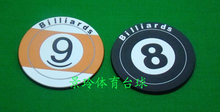 Free shipping 2pcs/lot billiard accessories 8-ball Snooker coasters rubber coasters ball plastic coasters cup pad glass mat(China)